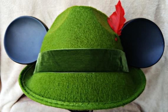 Mouse Ears Peter Pan. Peter Pan Hat. Mickey Ears Peter Pan