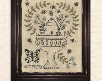 A Joyful Journey - New Stitchery pattern by Kathy Schmitz - May - Butterfly