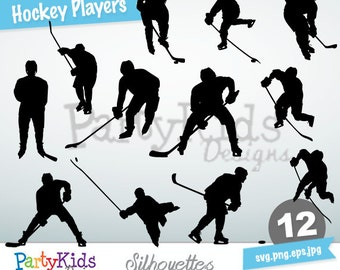 Hockey Players, SVG Hockey Players, Instant Download, svg, png, jpg and eps file types included, PS-332