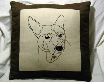 Personalized pet, Personalized Pet Pillow, Custom Pet Pillow, custom pet Portrait, custom pet photo pillow, Vizsla, Pit Bull, any image
