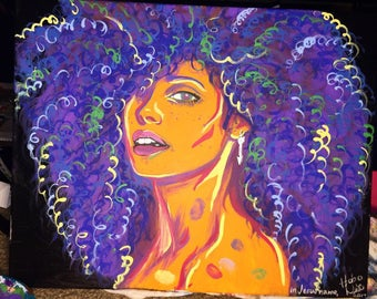 Alicia Keys colorful painting