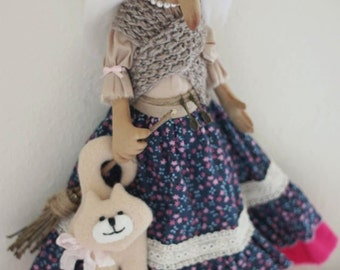 Baba Yaga Textiles doll home talisman