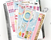 Aloha July Monthly View Planner Kit | 196 Stickers | Planner Stickers | For Erin Condren LifePlanner