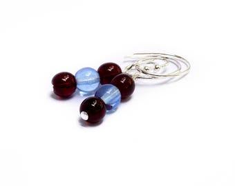 Soccer Earrings - Burgundy Earrings - Sky Blue Earrings - Team Spirit Earrings - Gameday Jewelry - Women Sports Lover - Colorado Rapids