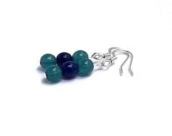 Game Day Team Spirit Wear - Baseball Earrings - Navy Earrings - Teal Earrings - True to the Blue - Baseball Team Colors - Seattle Baseball