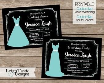 PRINTABLE Bridal Shower Invitation, Bridal Party, Shower, Breakfast at Tiffanys Invitation, Name & Co., Birthday Invitation, Bridal Shower