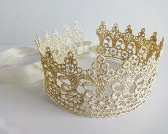 Lace Crown, Toddler Crown, Princess Crown, Headpiece, Adult Birthday Crown, Halo Crown, Adult Crown, Adjustable Crown, Halo Crown, Glinda