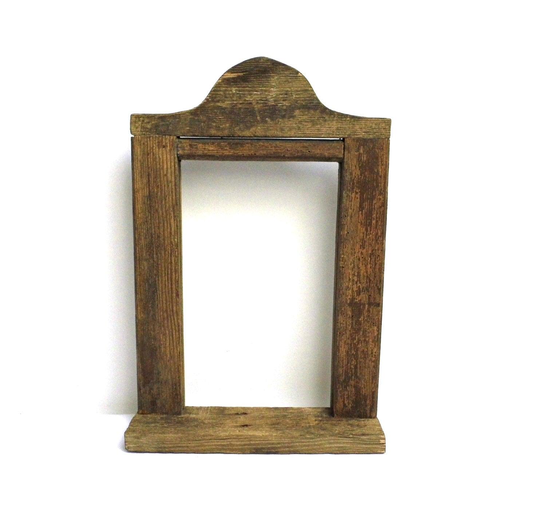Vintage Wood Frame Barn Wood Primitive Open Gallery Picture