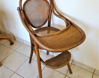 Rare high chairs baby stamped bentwood Thonet 1930 s time and never restored/illuminati10