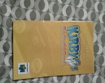 Kirby N64 manual The Crystal Shards