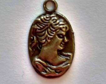 Bronze Cameo Charm