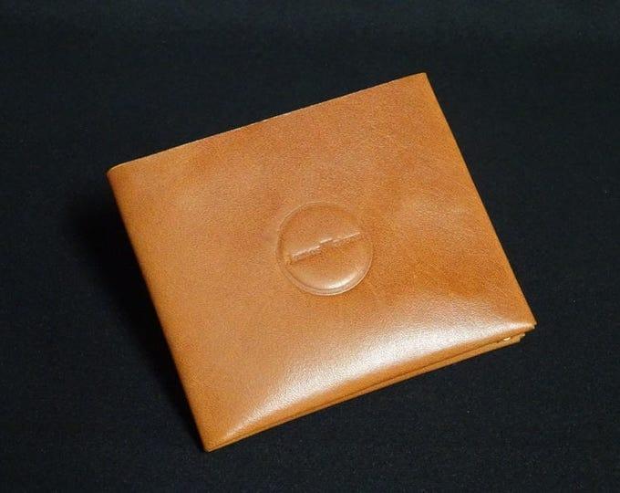 8-Pocket Wallet - Whiskey Tan - Kangaroo leather with RFID credit card blocking - Handmade - James Watson