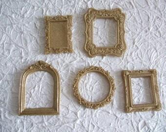 COJ 5 PCs Golden resin