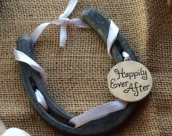 Happy Ever After Lucky Wedding Horse Shoe-Gift-Bridal shower-Horseshoe art-Cowgirl
