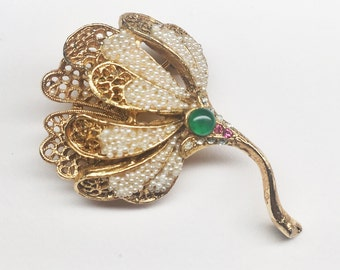 Superb Vintage BSK Brooch