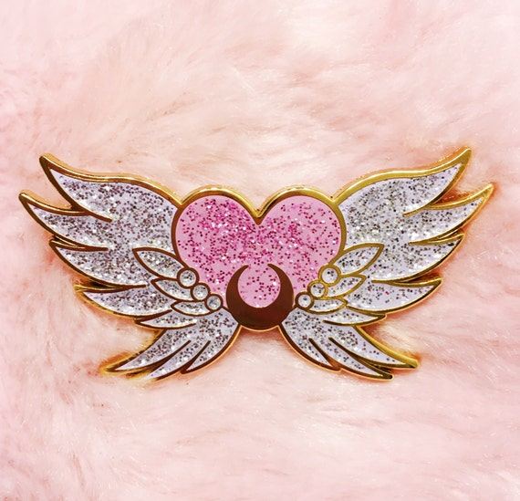 sailor moon enamel eternal anime kawaii brooch lapel lolita glitter