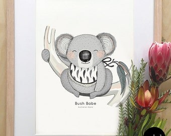 A4 Size Australian Animal Nursery Print - Small (Unframed)