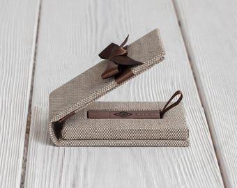 USB box - USB Packaging - USB case - Wedding Photography Packaging - Custom Colors - Satin Ribbon - Cloth Coated - Handmade