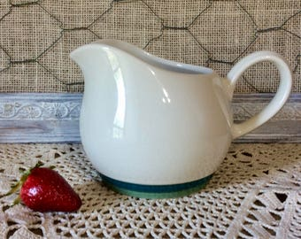Vintage Round Gravy Boat Pitcher in Ocean Breeze by Pfaltzgraff - Blue, Green, Teal - Pfaltzgraff Replacements - Made in USA - Discontinued
