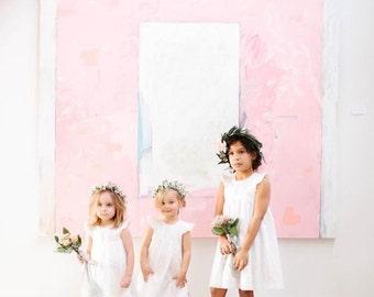 Girls dress, toddler dress, flower girl, white dress