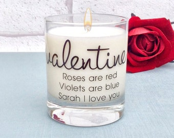 Valentines Day Gift Candle, Valentines Day Gift For Girlfriend, Valentines Day, Valentines Day Gift For Wife, Personalised Valentines Day