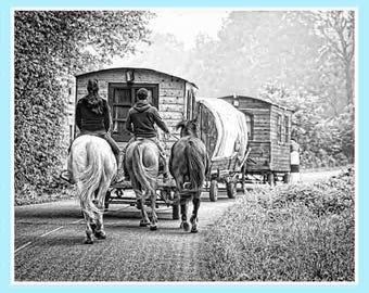 Gypsy caravan, vivid fine art, Gypsy wagon, caravan Decor, caravan decoration, retro caravan, caravan lover, Gypsy caravan, Gypsy soul gift
