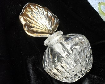 Vintage Perfume Bottle with Gorgeous Glass Stopper