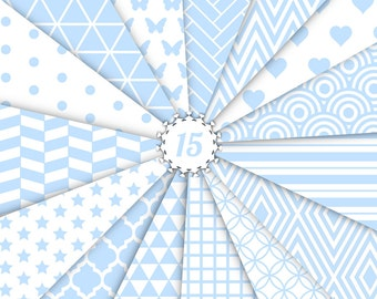 25% OFF! - Baby Blue Digital Paper
