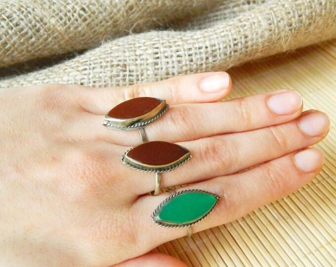 Vintage kuchi rings / indian rings / rajasthan tribal rings / afghan rings / tribal indian gypsy rings/ vintage jewelry, boho rings 3 pcs