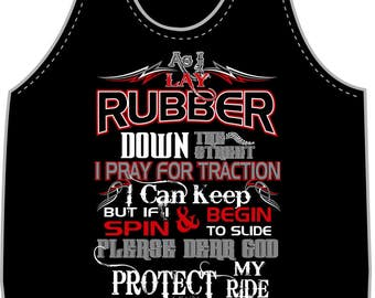 As I Lay Rubber down the Street  - Tank Top