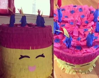 cake piñata / happy face pinata