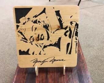 Marilyn Monroe Plaque, Norma Jean Plaque, Marilyn Monroe, Norma Jean, Marilyn Monroe Art, Norma Jean Art, Celebrity Art, Christmas Gift