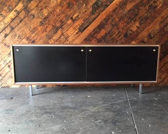 Custom Black Lacquer Herman Miller and George Nelson Style Credenza