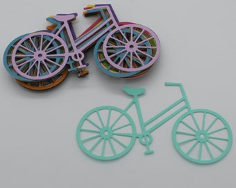 Bike bicycle: lot of cut die - cut