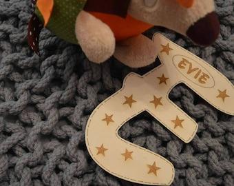 Personalised children's door sign, nursery door plaque, children's bedroom decoration, name sign.