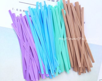 100pcs color mix pvc twist tie gift wrapping for wedding favor bag box party supplies