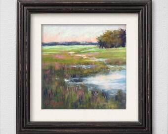 "Original Pastel Painting ""Salt Marsh"""