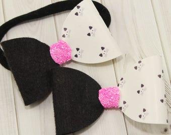 Cat headband, Kitten headband, headband for baby, toddler headbands, infant headbands, newborn headbands, baby headbands