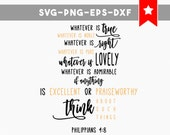 think good svg file, motivational quotes svg, wood signs sayings, bible verse svg, scripture svg, commercial use, christian wall art, cricut