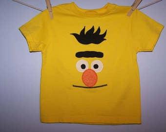 Sesame Street BERT Face Custom Boutique T SHIRT Tee Ernie
