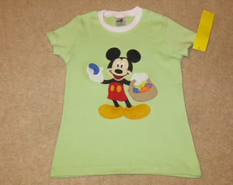 mickey mouse easter basket custom boutique t shirt tee spring hunt egg