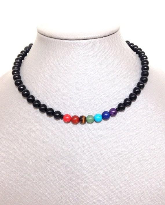 Chakra Balancing Lava Bead Diffuser Necklace- Essential Oil  Bracelet Diffuser Aromatherapy - Lava Bead Essential Oil Diffuser Necklace