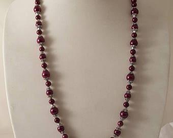 3 PCs Dark Purple Jewelry Set - Purple Jewelry Set - Purple Pearl Jewelry Set - Wine Jewelry Set - Purple Pearl - Purple Jewelry -Wine Pearl