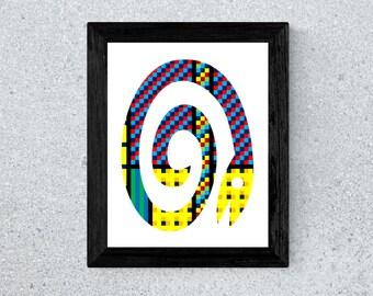 Spiral Snake Print