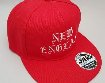 New England Embroidered Snap back Cap