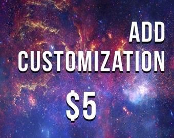 Add customization to any listing!