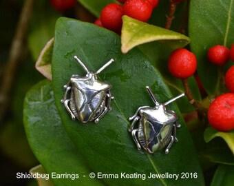 Sterling Silver Stud Earrings: Shieldbug