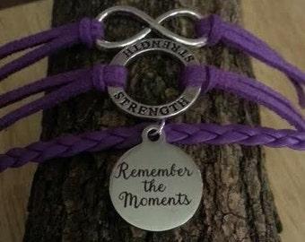 Alzheimer's Awareness Bracelet- Remember the moments