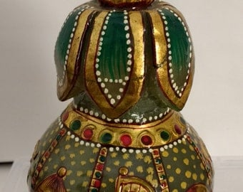 Green Jade Gold Painting Vases, Decorative Item, Home And Decor, Gemstone  Vases,