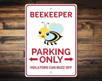 Beekeeper Parking Sign, Beekeeper Gift, Beekeeper Decor, Beekeeper Sign, Bee Lover Gift, Bumble Bee Sign - Quality Aluminum ENS1002851